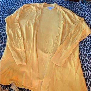 Liz Claiborne cardigan mustard